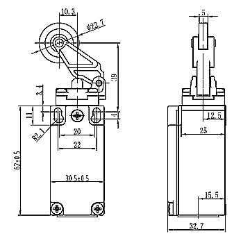Limit Switch Symbol Schematic