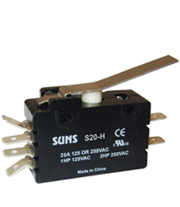 e20 wiring a switch suns s 20h hinge lever snap action 20a micro switch e20 ... wiring a switch to a light fixture