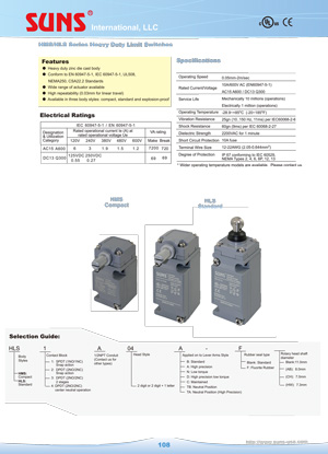 e108 hms hls heavy duty limit switches suns international llc  at soozxer.org
