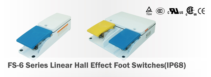 FS-6 Series Linear Hall Effect Foot Switches(IP68)