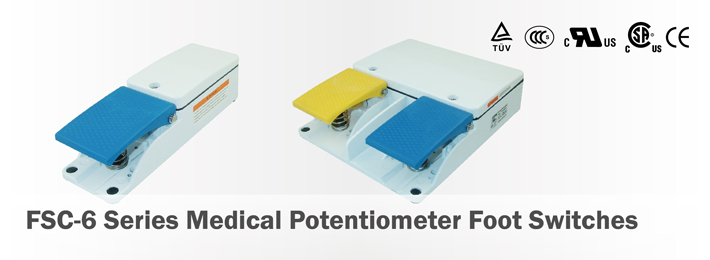 FSC-6 Series Medical Potentiometer Foot Switches