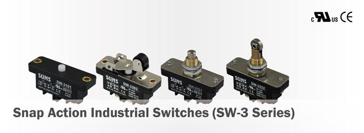 Snap Action Industrial Switches (SW-3 Series)
