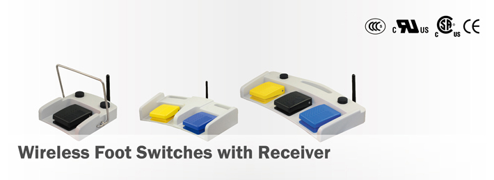 Wireless Foot Switches with Receiver