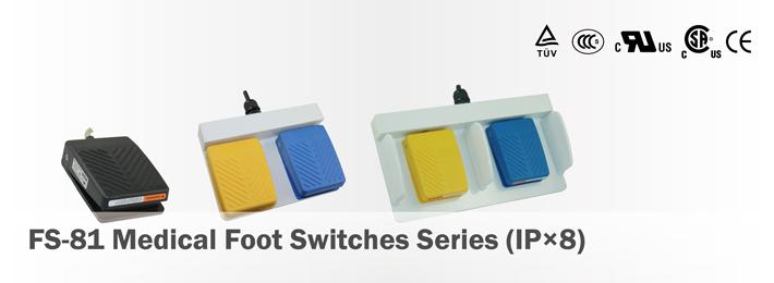 UL Certified Waterproof USB Dual Pedal Foot Switch Twin SUNS FS-81-SP-USB