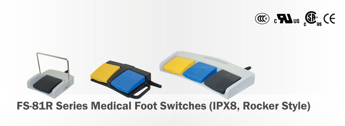 FS-81R Series Medical Foot Switches (IPX8, Rocker